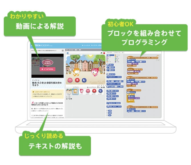 TechAcademyキッズの特徴1